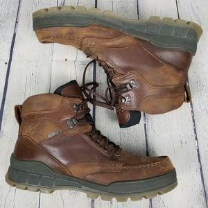 ECCO | Track II high top lace-up moc toe boots